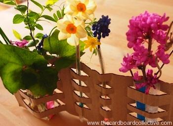 cardboard craft woven cardboard vase