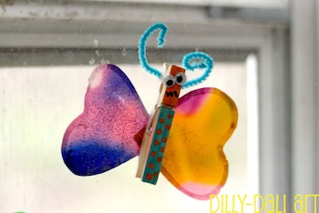 Dilly-Dali Art gelatin plastic tutorial diy butterflies