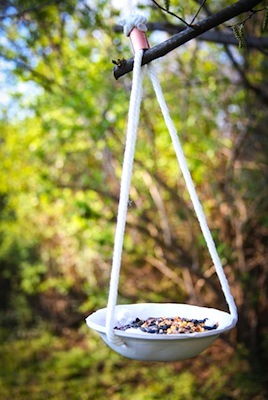 mother's day craft diy clay birdfeeder