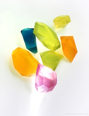 diy glycerine soap gem stones mother's day gift kids can make