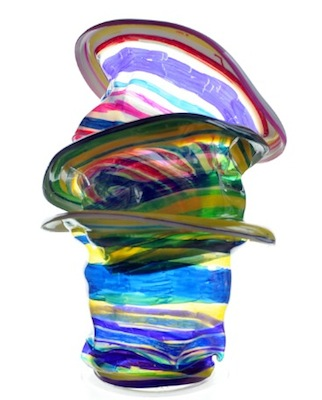 chihuly glass art inspired melty cups