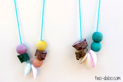 dyed nature necklaces