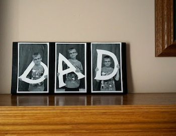 easy homemade photo card for father's day