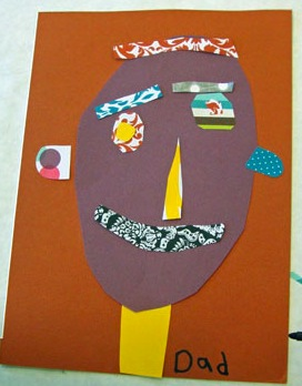 father day art craft ideas collage card for s day things to make and do 6555