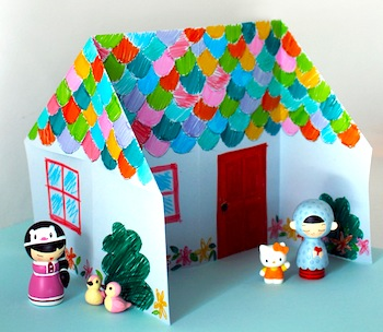 origami doll house tutorial diy