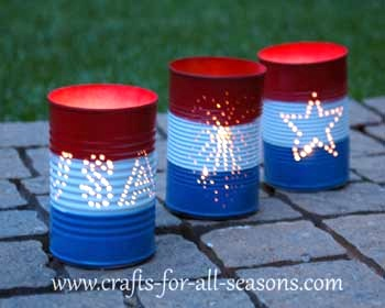 tin can luminaries fourth of july craft