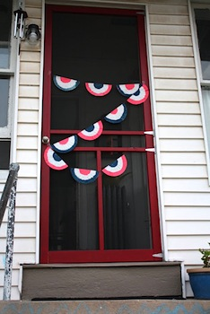 4th of july coffee filter bunting