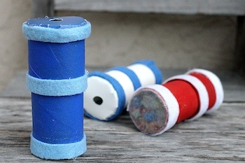 4th of july homemade tp roll kaleidoscopes kids craft