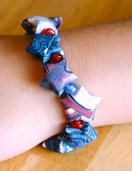 origami star 4th of july bracelet