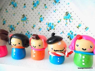 polymer clay dolls