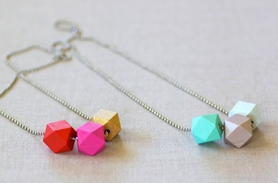 faceted wood bead necklace craft