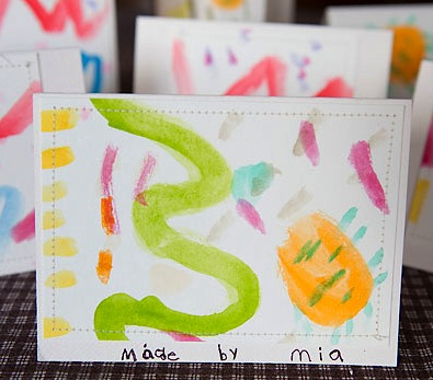 watercolor handmade cards for kids to make
