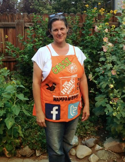 The Crafty Crow The Home Depot custom orange apron