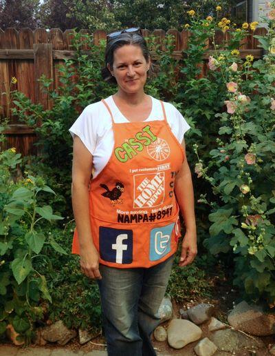The Crafty Crow The Home Depot custom orange apron