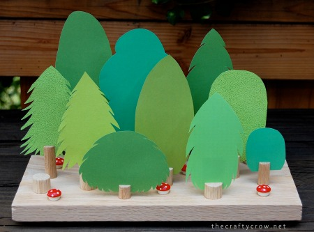 The Crafty Crow forest chore chart tutorial