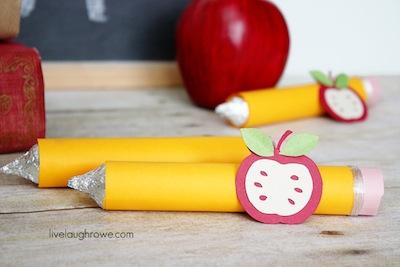 back to school craft treat pencils