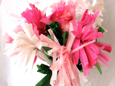 mother's day craft tissue paper flowers carnations