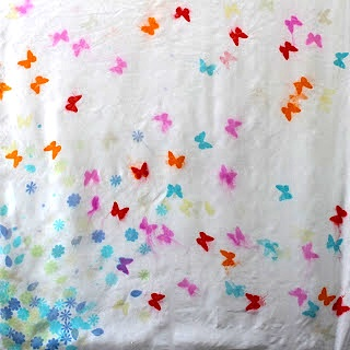 easy silk scarf dyeing with tissue paper mother's day gift teacher appreciation gift