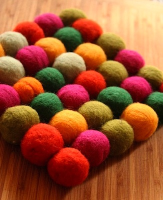 Felted Wool Trivets by Sqrl & Bee