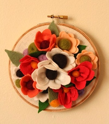 Posie Coral Bouquet Home Decor by Sqrl & Bee