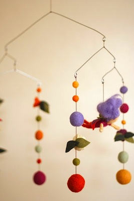 Felt Fairy Garden Baby Mobile by Sqrl & Bee