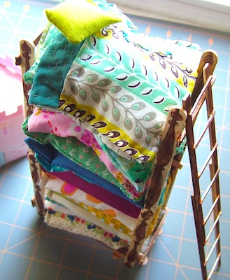 princess and the pea miniature bed fairy tale craft