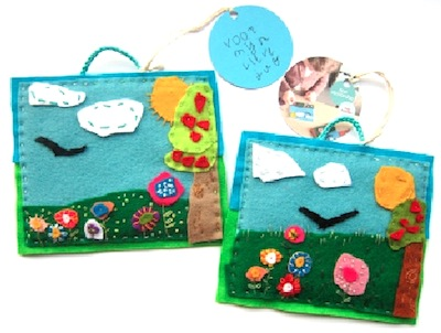 felt craft landscape homemade teacher gift idea