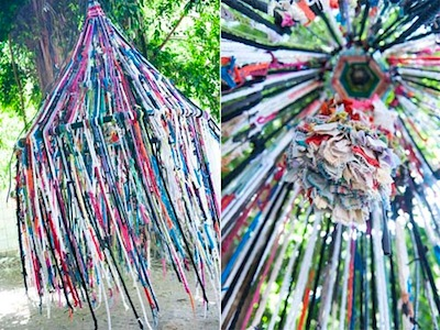 finger knitting tent project idea