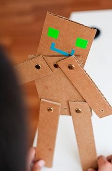 cardboard robots craft