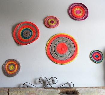 yarn wall medallions diy yarn craft