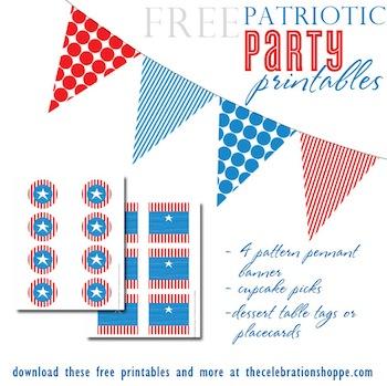 free patriotic party printables bunting