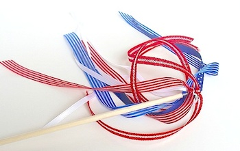 patriotic ribbon wands fourth of july parade craft