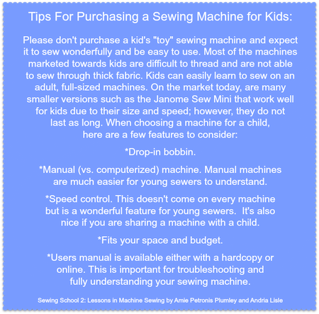 Tips for buying a sewing machine for kids