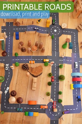 Picklebums free printable roads activity for kids