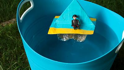 Salsa Pie video craft water bottle boat floating
