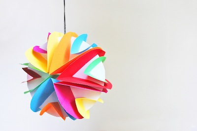 Glowing Paper Planets Craft