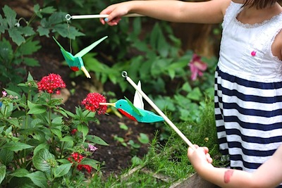 diy balsa wood hummingbird homemade toy for kids