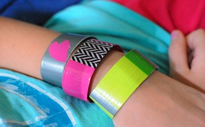 duct duck tape bracelet craft for kids