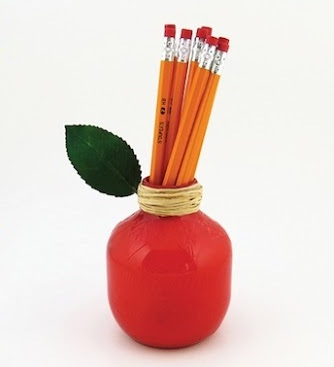 back to school craft apple pencil holder teacher gift