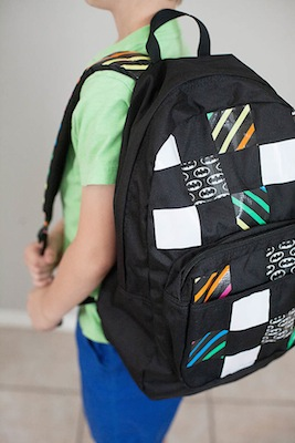 diy duct tape craft personalized back pack for school