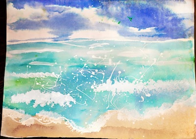 art lesson for kids watercolor seascapes