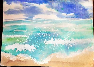 art lesson for kids watercolor seascapes