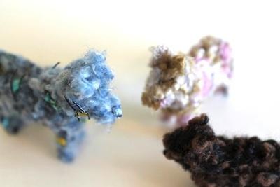 kids craft yarn covered plastic animals