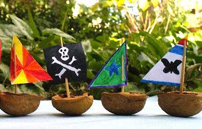 walnut shell pirate ships