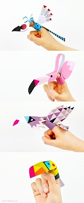 bird finger puppet free printables