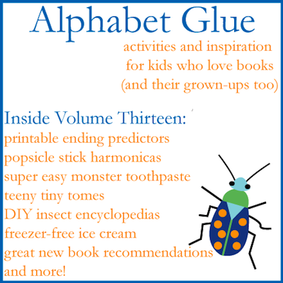 Alphabet Glue volume thirteen contents list