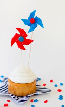 edible pinwheels cupcake decoration
