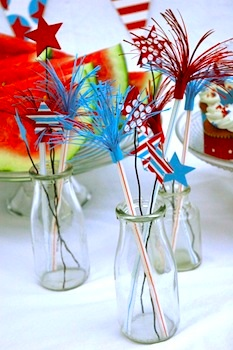paper firecracker table decorations