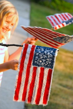 rag flags craft for 4th of july