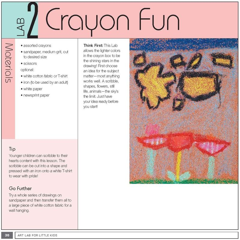 Art Lab for Little Kids crayon fun excerpt p1